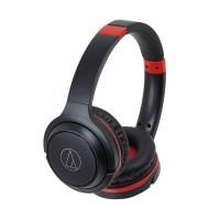Audio Technica ATH S200BT S200 BT Headphone On-Ear - Black Red