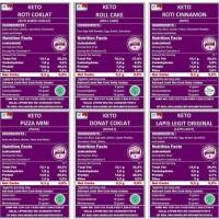 TERLARIS KETO PAKET 1 MIX DONAT ROLL CAKE & LAPIS LEGIT PROMO