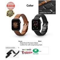 Strap Apple Watch 42mm / 44mm Seri 1 2 3 4 5 Rearth Ringke Leather