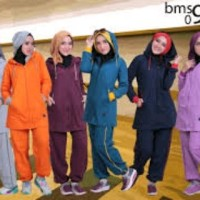 PROMO baju olahraga senam setelan believe bms 09 ORI ASLI Limited
