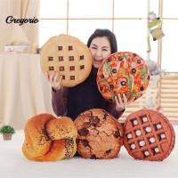 3D Bantal Lembut Bentuk Makanan Roti