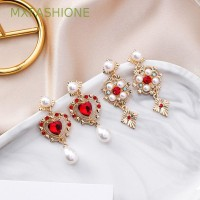 Tassel Earrings MXFASHIONE Accessories Shining Red Color Geometric