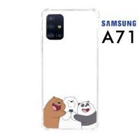 Custom Casing Samsung A71 Softcase Anticrack Motif Panda Lucu 21