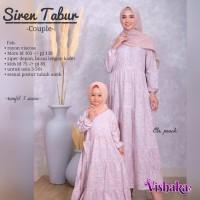 Couple Baju Muslim Gamis Ibu dan Anak Viscose SIREN Tabur by VSK