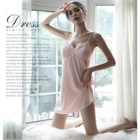LINGERIE BABYDOLL/Set Dress Lingerie V-Neck sexy-pink (IMPOR) - Merah Muda, XXL