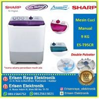 Mesin Cuci SHARP ES-T95CR / EST95CR Super Aquamagic 2 Tabung 9 Kg