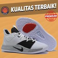 Sepatu Basket Sneakers Nike PG 3 White Black Moon