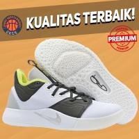 Sepatu Basket Sneakers Nike Paul George 3 PG White Mint Pria Wanita