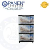 Lemari Plastik Kabinet 3 Tingkat Mosque LP012 Panen