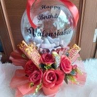 kado bunga buket balon bouquet coklat hadiah valentine white day gift