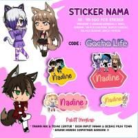PO3Hari Sticker / Stiker Label Nama Karakter Tema GACHA LIFE