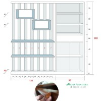 penyekat ruangan jati minimalis jati modern model terbaru