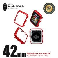 Apple Watch Case Iwatch PC Case Hardcase Frame Bumper 42mm Gen 1/2/3 - Merah