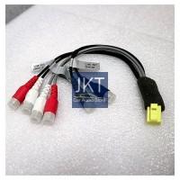 Kabel Konektor Soket RCA Audio Out mobil MITSUBISHI PAJERO lama