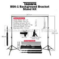 STAND BACKDROP/Background Kit Studio Foto Bracket 250cm With Bag