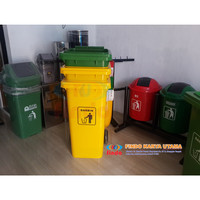 Tempat Sampah Dorong 120 Liter HDPE 001