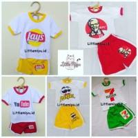 Baju set kaos anak setelan anak KFC YOUTUBE MILO SEVEL READY