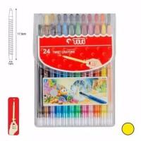 Crayon Titi Putar 24 Warna Panjang⠀⠀⠀⠀⠀