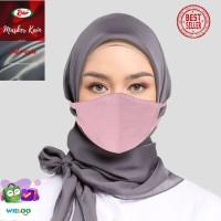 Masker Kain Hijab Rider Anti Bakteri 2 ply (Merah Muda/Pink)