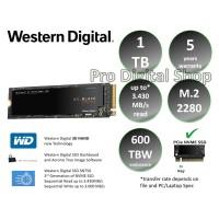 SSD WD Black 1TB - M.2 - NVMe - 3D NAND SSD - Garansi 5 Tahun