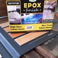 CAT EPOXY untuk kolam ikan, Garasi,Lantai Ready Warna Black Yelow Blue