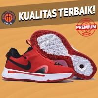 Sepatu Basket Sneakers Nike PG 4 Red White Pria Wanita