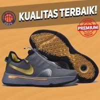 Sepatu Basket Sneakers Nike PG 4 Grey Gold Pria Wanita