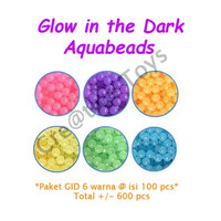 Aquabeads Refill Glow in the Dark mainan anak