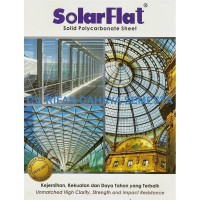 Solarflat (6 mm) Atap Transparan Solid / Atap Polycarbonate Sheet