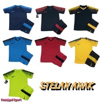 TERLARIS Seragam Olahraga Baju Kaos Setelan Jersey Futsal Nike Anak