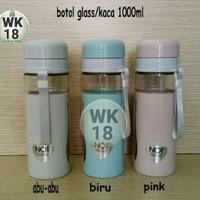 botol minum terbuat dari kaca+tempat air minum panas dan dingin 1000ml