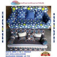 SOFA BED INOAC 3 IN 1 UK 200x180x20 Cm