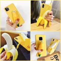 Case 3D Banana Soft Casing Samsung A10 A20 A30 A40 A50 A60 A70 A80
