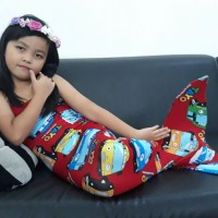 * Baju Kostum Renang Mermaid Putri Duyung Anak Motif Tayo
