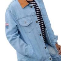Jaket Jeans Pria Dilan Levis Cowok Oversize Jumbo Big size XXL XXXL