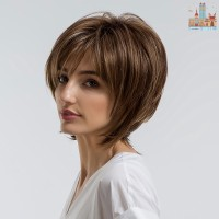 1 Pc Wig Bob Pendek Natural Wanita untuk Pesta Cosplay