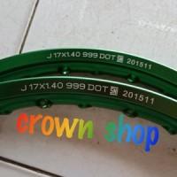 velg tdr ring 17 ukuran 140 140 warna hijau kilat. original tdr racin