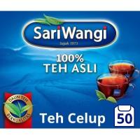 Sariwangi Teh Celup Tea Bag Asli Lebih Segar Dan Nikmat 50Pc