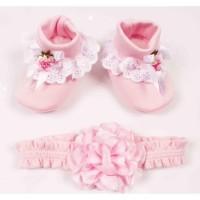 New !! Banana Dress Bayi Perempuan Tulle Bunga Rajut + Bando + Sepatu