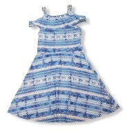 dress anak junior place motif