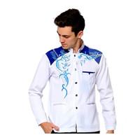 Baju Jasko Jas Koko Premium Bordir Motif Elegan Jaskoko Dewasa Putih