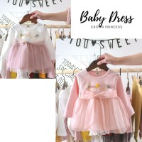 Baju Dress Terusan Anak Bayi Cewek Perempuan Lucu Murah Cantik BG2002