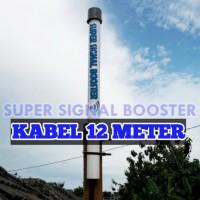 Super Signal Booster Antena Penguat Sinyal kabel 12 Meter