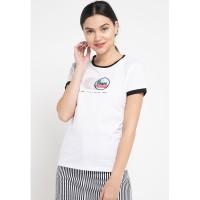 FILA X VESPA Baju Kaos Wanita Delilah - White