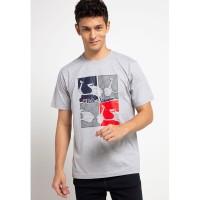 FILA X VESPA Baju Kaos Pria Quary - Grey