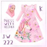 baju muslim unicorn anak cewe import ready 2 tahun sampe 7 tahun
