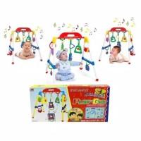 Baby musical play gym / musik mainan rattle bayi anak playgym Premium