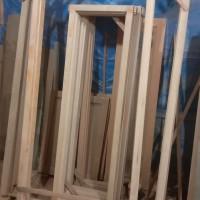 kusen pintu kayu mahoni