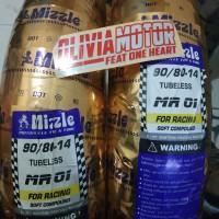 ban tubeles racing soft compount mizzle mr 01 ukuran 90/80-14