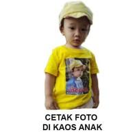 Cetak Foto dan Nama Kaos Lengan Pendek Bayi dan Anak - Hitam, XS